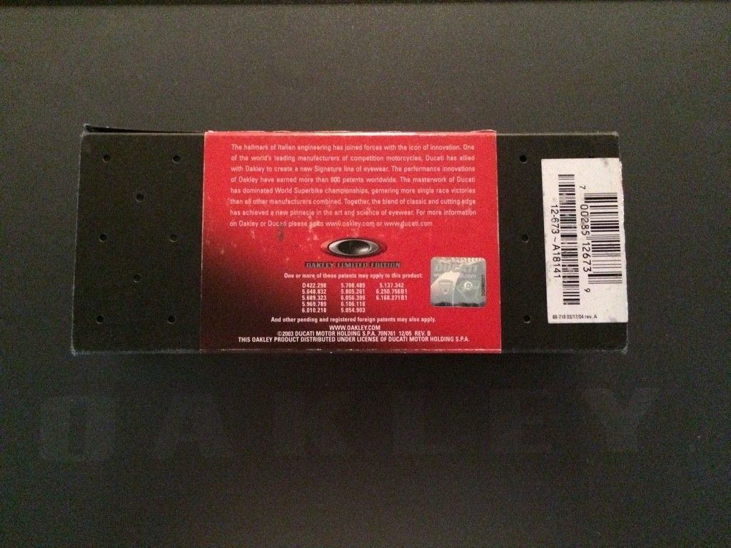 Oakley X-Metal Ducati Juliet....Low Serial....$525 - ImageUploadedByTapatalk1415732655.846620.jpg