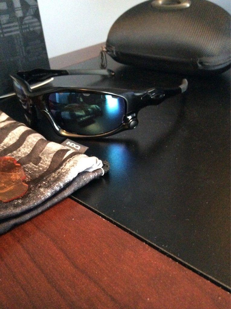 FS: Oakley split jacket polished black with jade iridium lenses - ImageUploadedByTapatalk1420999937.682515.jpg