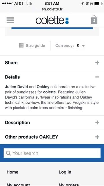 Oakley X Colette X Julien David Blue Chrome Frogskins for trade - ImageUploadedByTapatalk1421941385.068067.jpg