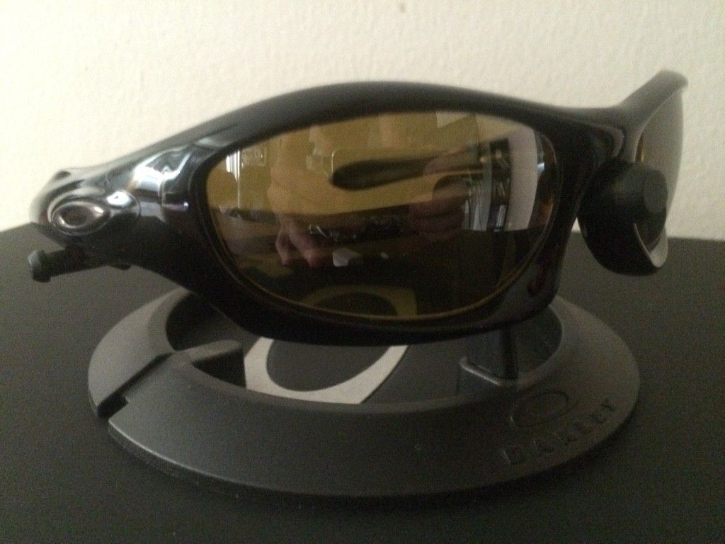 OAKLEY MONSTER DOG - AMBER BLACK POLARIZED LENSES/ POLISHED BLACK FRAME - ImageUploadedByTapatalk1438131680.236879.jpg