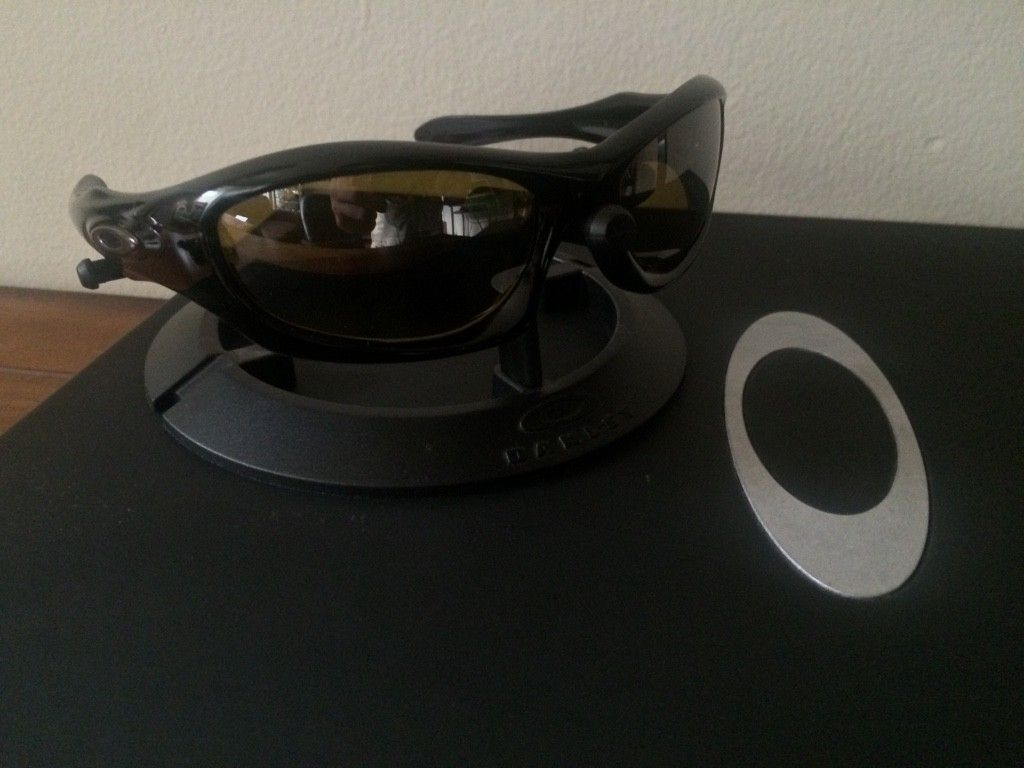 OAKLEY MONSTER DOG - AMBER BLACK POLARIZED LENSES/ POLISHED BLACK FRAME - ImageUploadedByTapatalk1438131754.877285.jpg