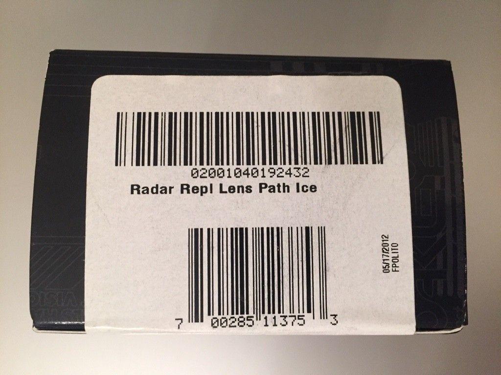 Oakley Radar Path Lenses.....Ice & BI.......$65 - ImageUploadedByTapatalk1464725178.192084.jpg