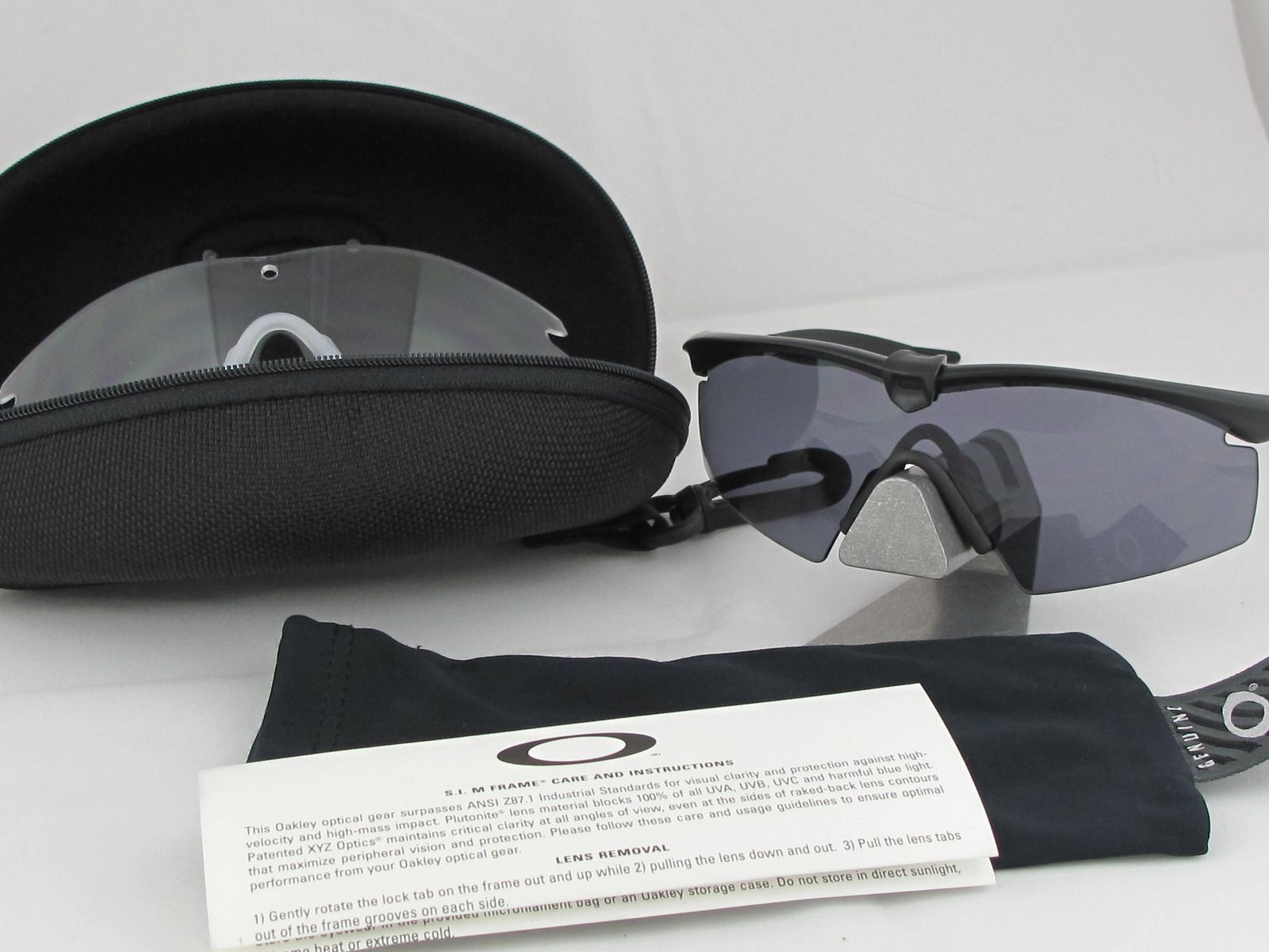 US Military Issue Oakley SI M-Frame 2.0 Strike Array IP Ballistic Safety Glasses - img4588x.jpg