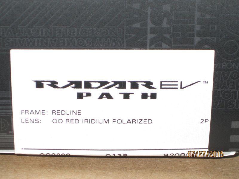 Oakley Radar EV Path, OO9208-08, Redline frame + Red Iridium Polarized lens. - IMG_0014_zpsvfvbacr3.jpg