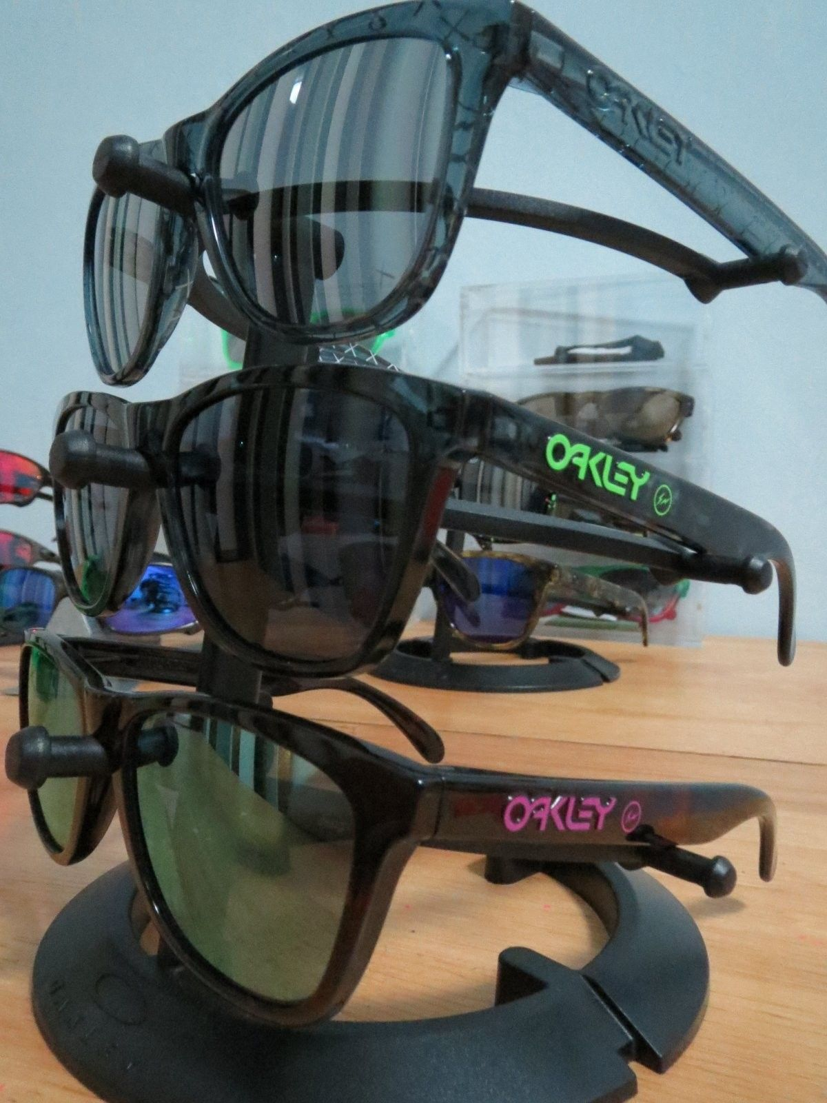 Oakley X Fragment Design Pink & Green Logo - IMG_0027.JPG