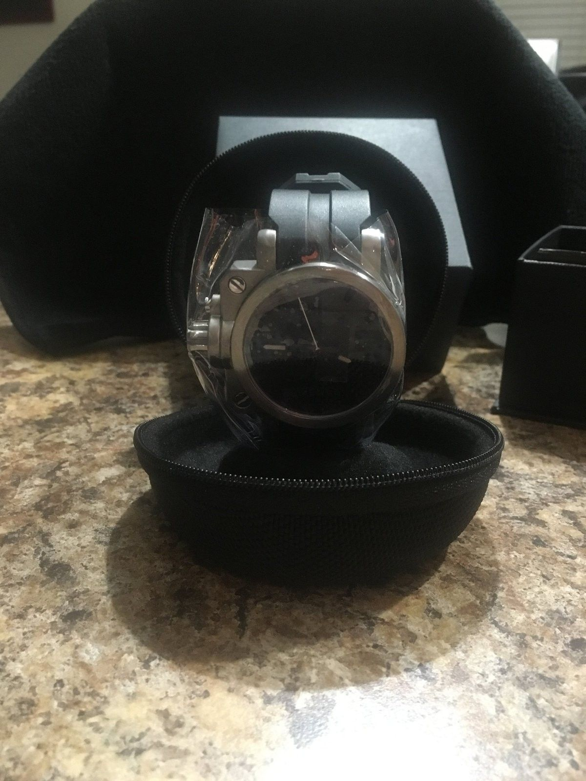 BNIB Ti Brushed / Black Carbon Dial Gearbox - IMG_0185.JPG