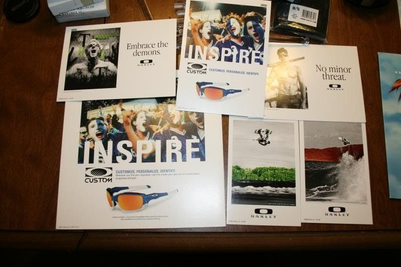 Juliet Polarized Display, Metal O Stickers, Sweatbands, Display Pieces And Pro M Socks/Nosepad - IMG_0310.jpg