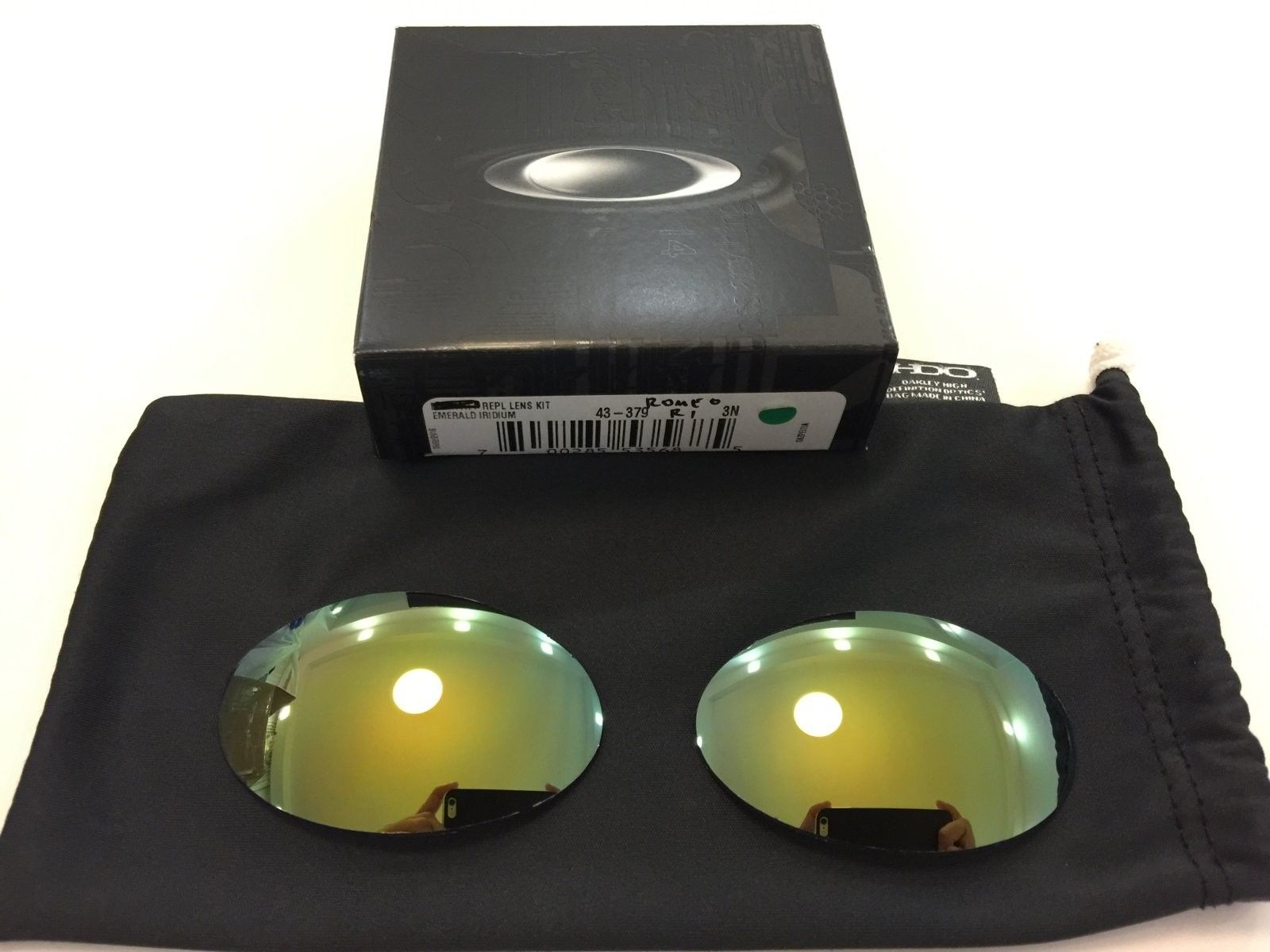 Romeo 1 Custom Cut Emerald Iridium Lenses - IMG_0479.JPG