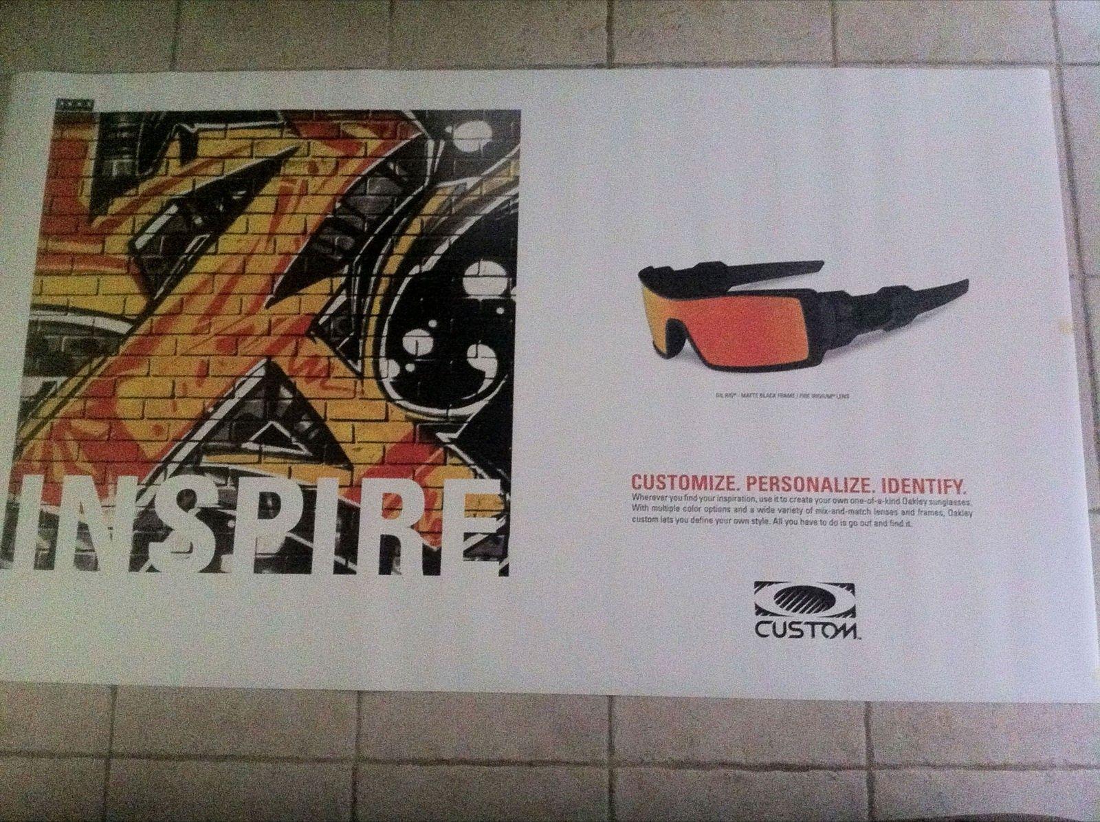 Oakley 4x7 Foot Magnetic Store Display Posters - IMG_1347.JPG