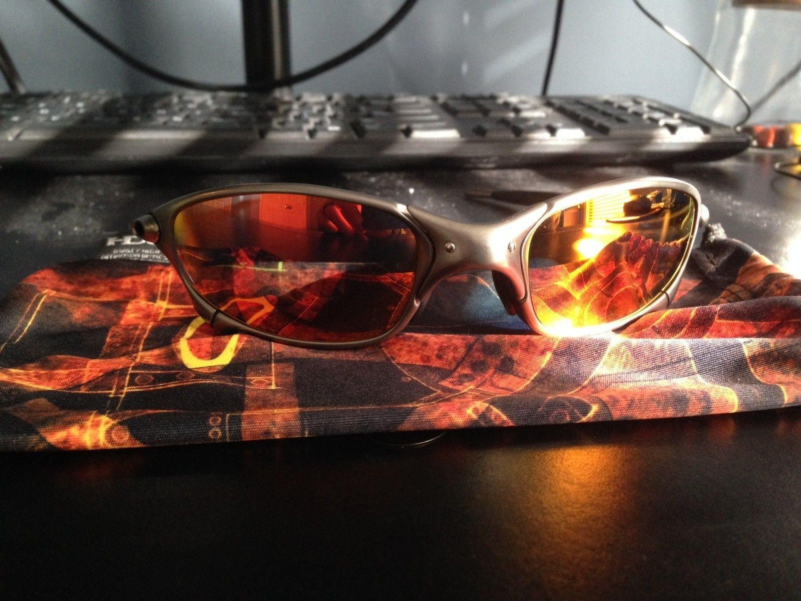 New Oakley Juliet Plasma Infinite Hero SKU with NEW Ruby Iridium Black Rubber - IMG_1357.JPG