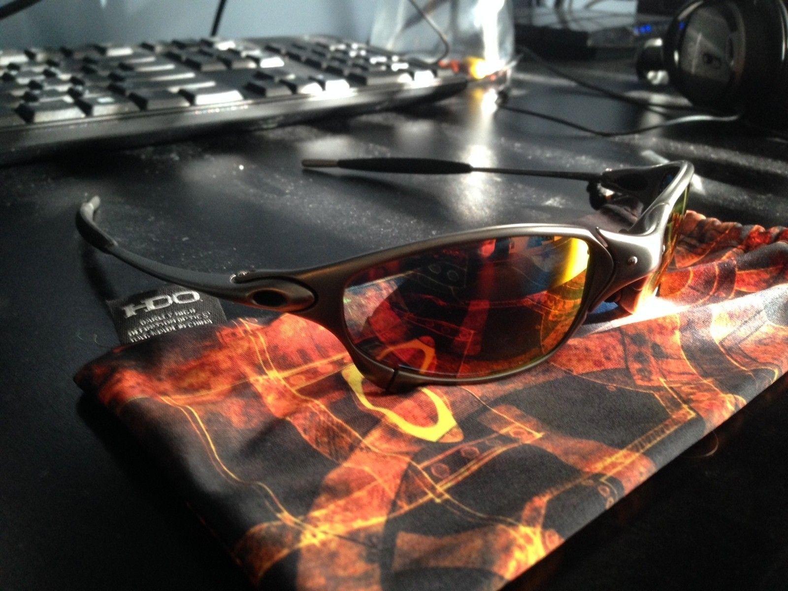 New Oakley Juliet Plasma Infinite Hero SKU with NEW Ruby Iridium Black Rubber - IMG_1358.JPG
