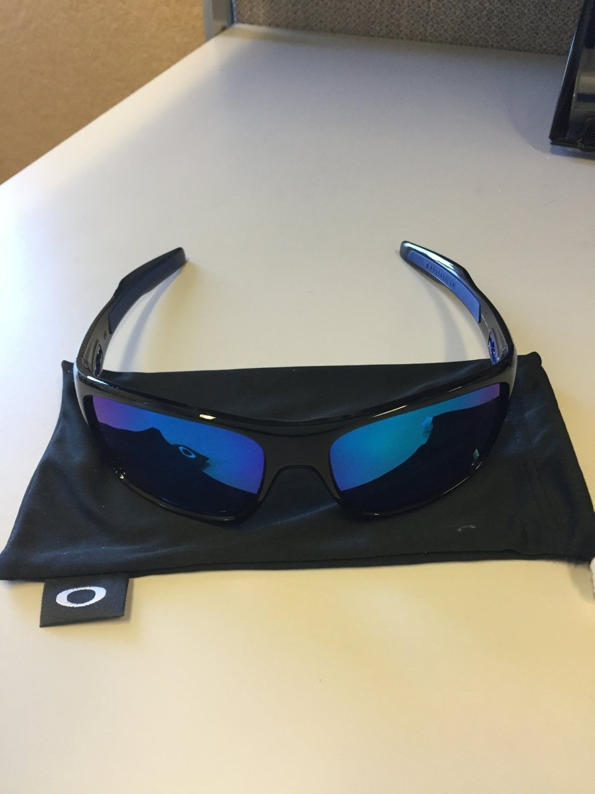 Mint Oakley Turbine Sunglasses Black Ink w/ Sapphire Iridium  $90 All In - IMG_1536.JPG