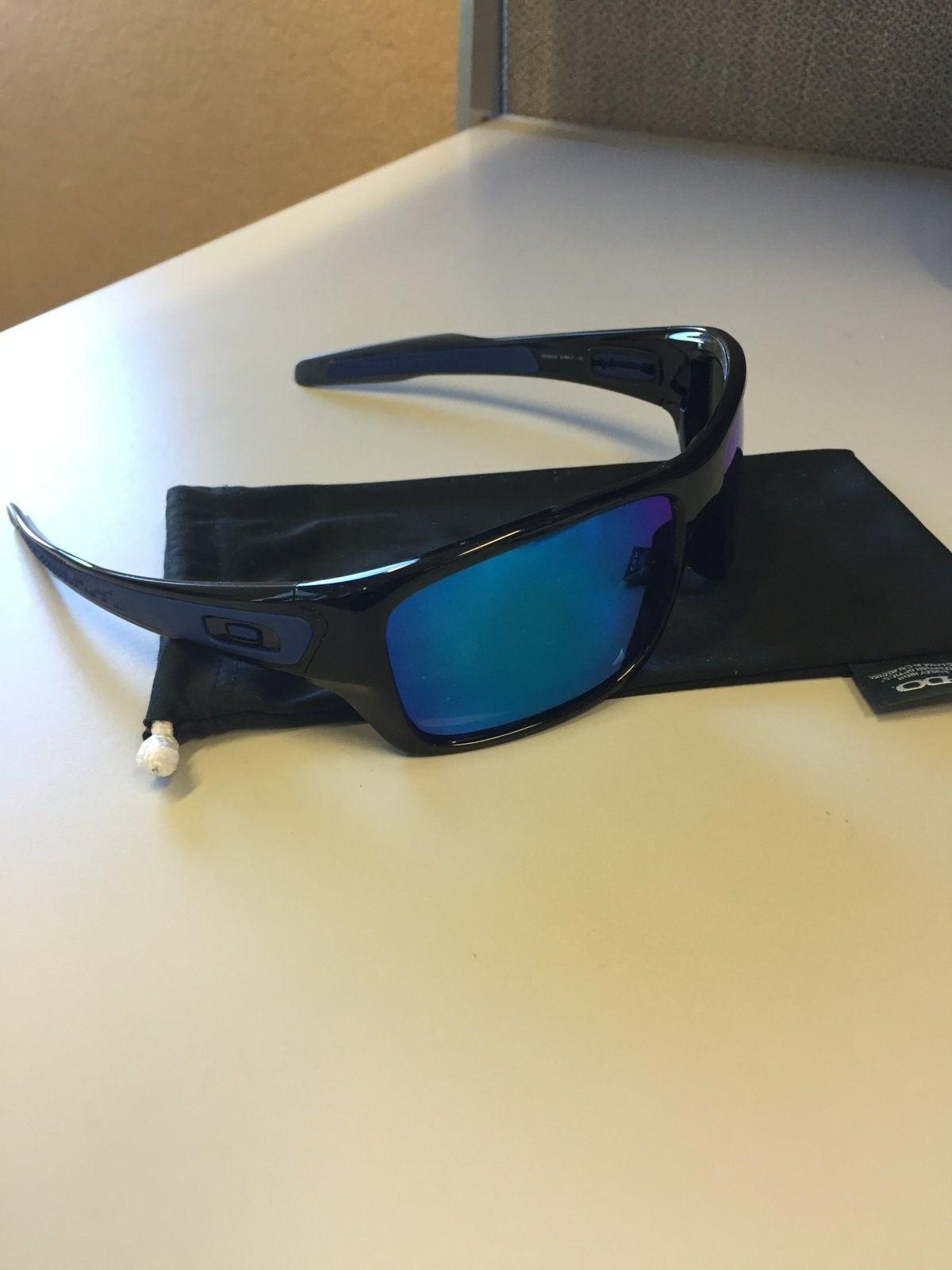 Mint Oakley Turbine Sunglasses Black Ink w/ Sapphire Iridium  $90 All In - IMG_1538.JPG
