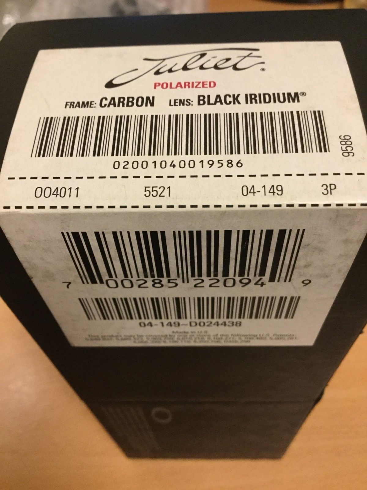Box: Juliet Carbon BIP    PRICE DOWN: $48 - IMG_1589.JPG