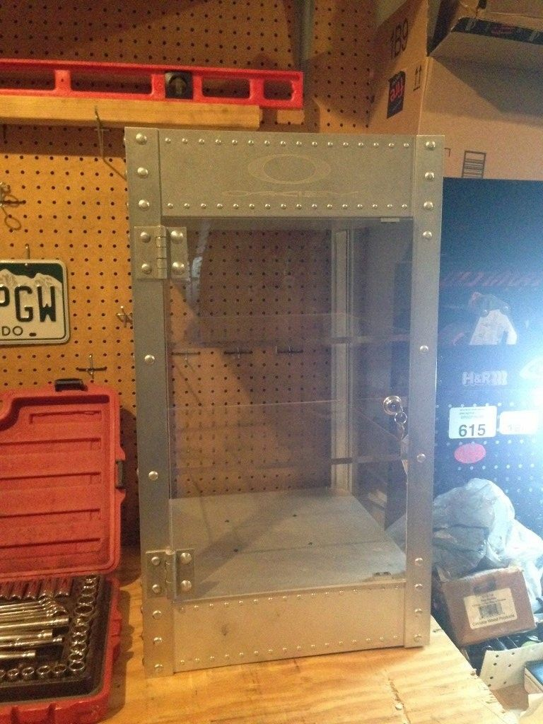Oakley Counter Top Display Case - Aluminum X-metal RARE - IMG_1979 (768x1024).jpg