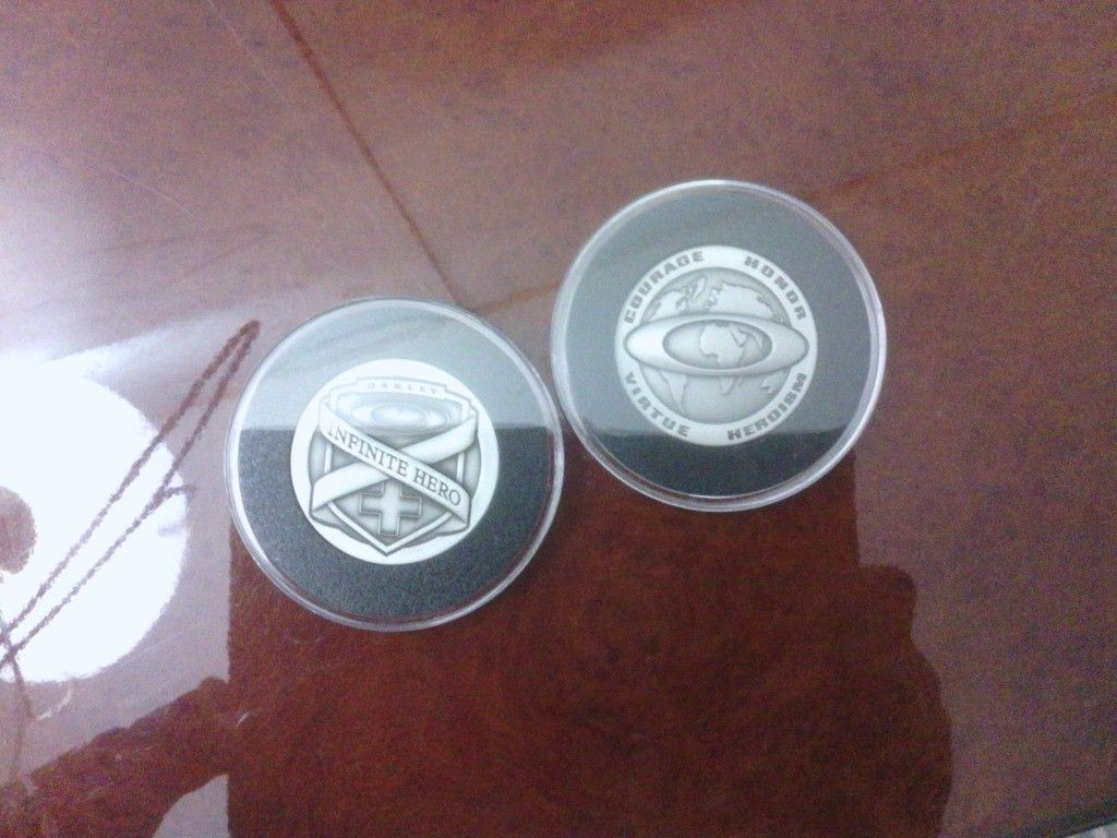 2 Infinite Hero Coins Plus Half X And X Squared Coins. - IMG_20121009_132827.jpg