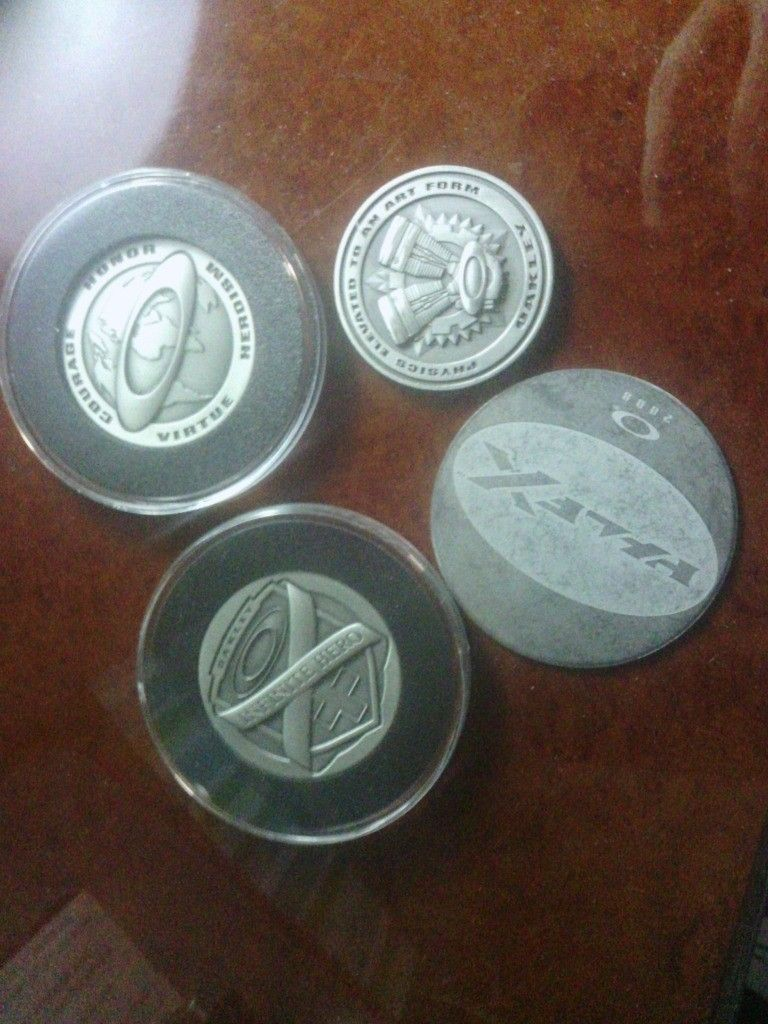 2 Infinite Hero Coins Plus Half X And X Squared Coins. - IMG_20121010_142248.jpg