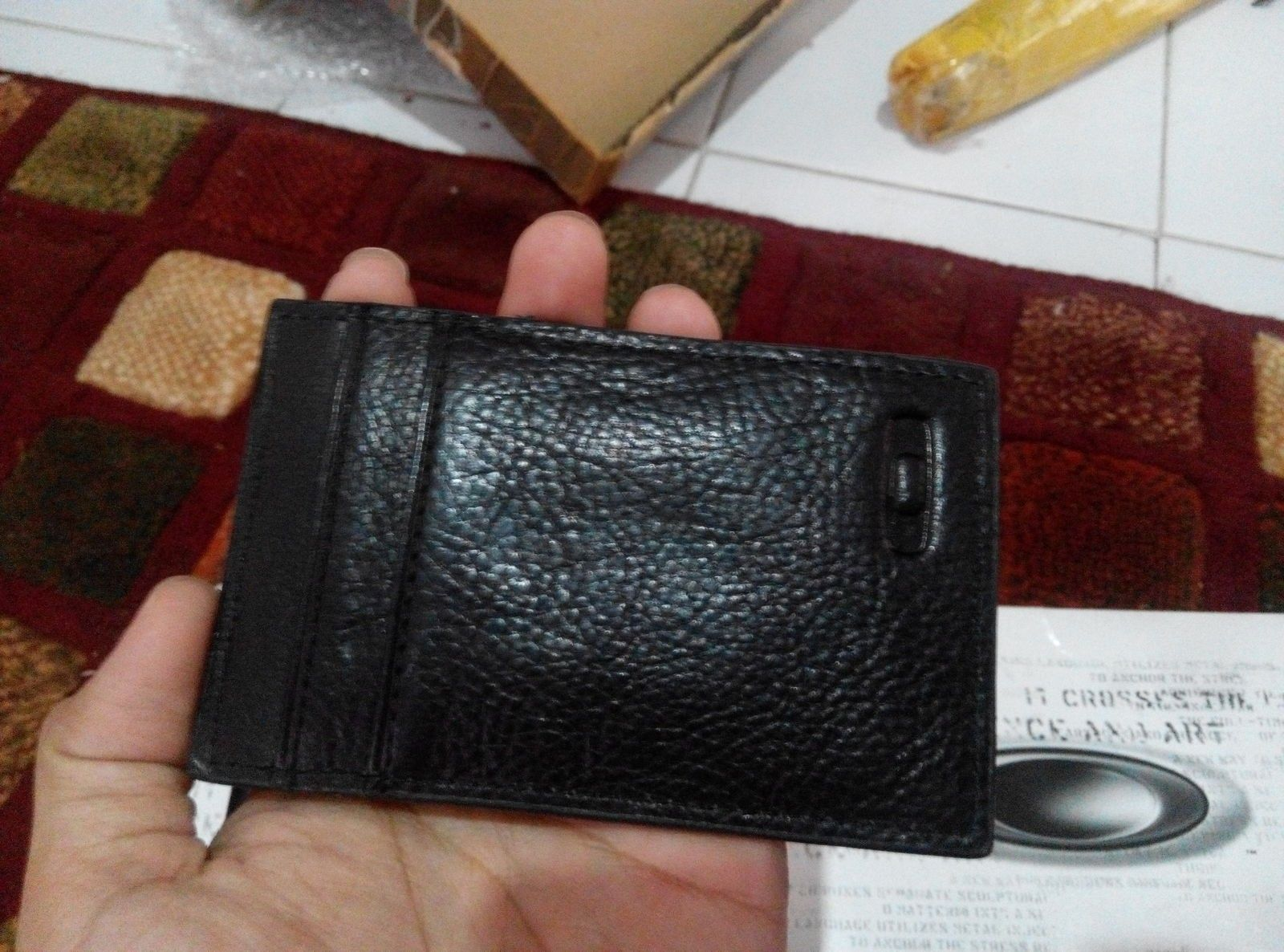 Moneyclip with leather wallet & leather wallet - IMG_20150913_145128.jpg