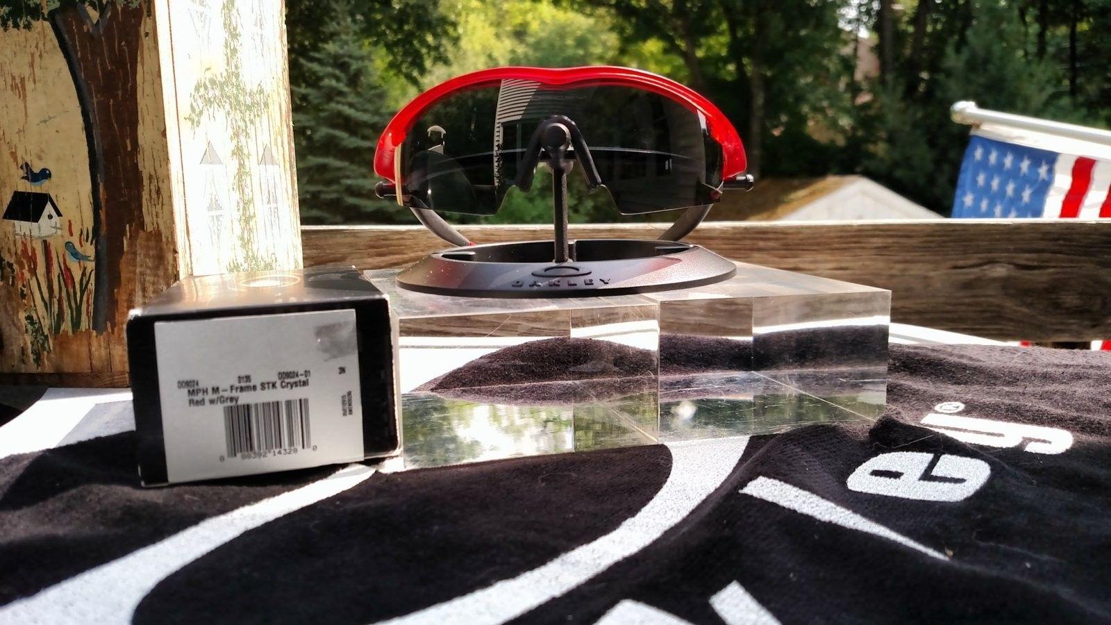 M Frame w/Crystal Red Frame, Grey Lens - BNIB - IMG_20160903_131625316.jpg
