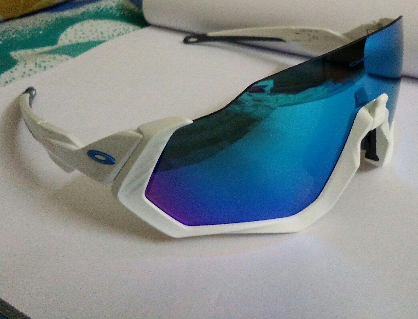 d8210808a81 Oakley Flight Jacket Matte White Prizm Sapphire - IMG 20180805 103127.jpg