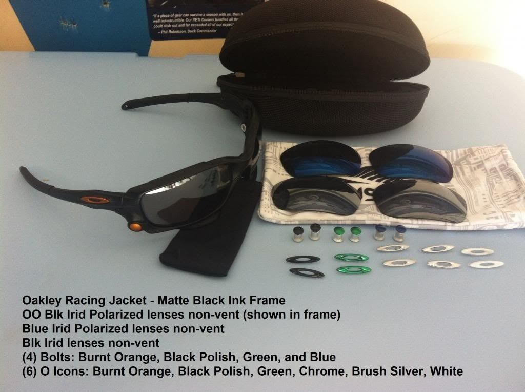 Racing Jacket - Matte Black W/3 Lenses, 4 Bolts, 6 O-icons - IMG_3265_zps04a847e6.jpg