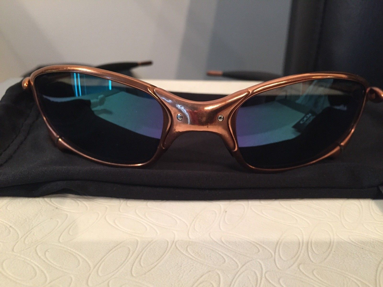 Custom Copper Plated Juliet w/ Custom Jade Polar Oakley Lenses - IMG_3334.jpg