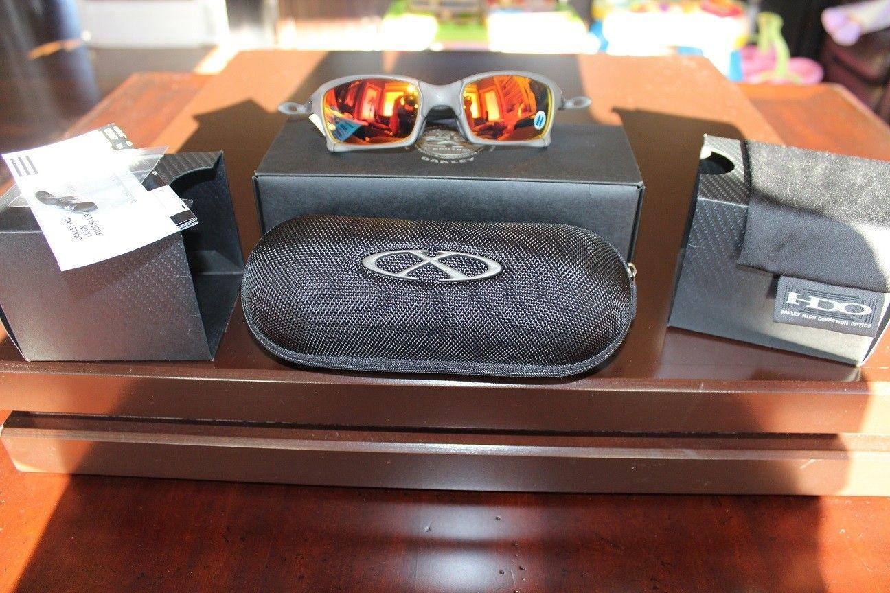 BNIB X-Squared X-metal Frame Ruby Iridium Lenses Purple Hue - IMG_3605.JPG