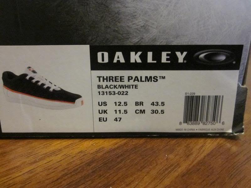 SOLD! Oakley Three Palms Chip Foose Shoes-Black/White/Orange Size 12.5 US - IMG_3791_zpsd3061ef9.jpg