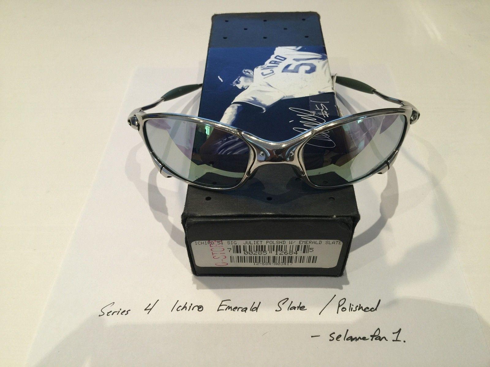 Ichiro Emerald Slate / Polished Frame Juliets (with box) - IMG_3812.JPG