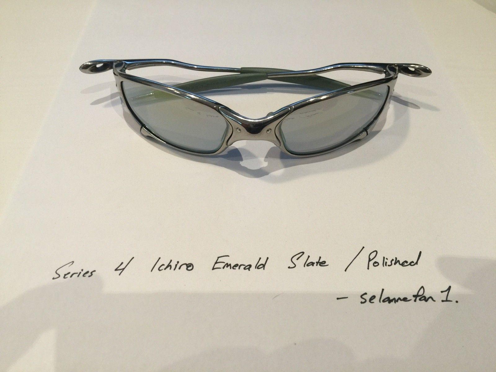 Ichiro Emerald Slate / Polished Frame Juliets (with box) - IMG_3813.JPG