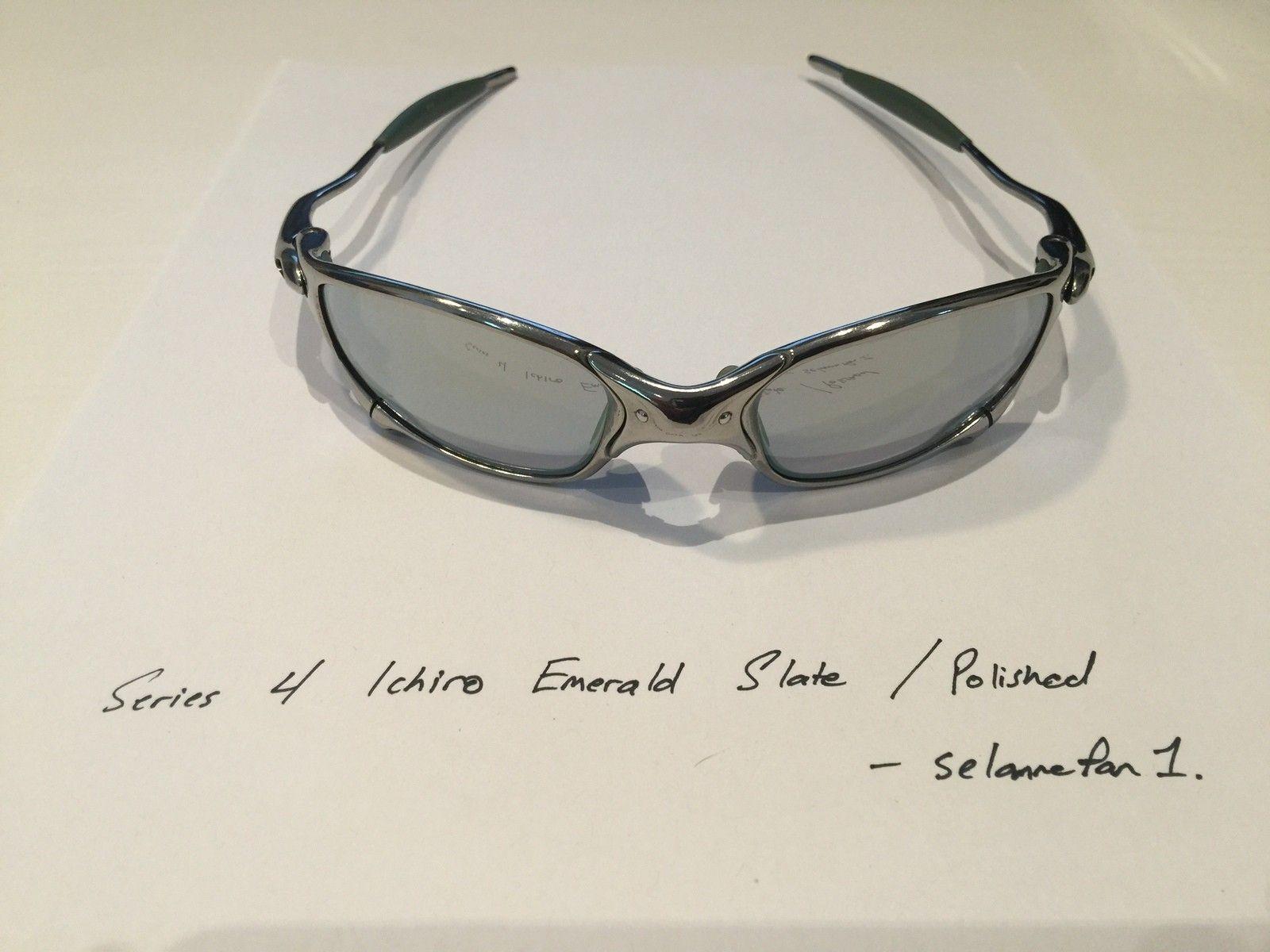 Ichiro Emerald Slate / Polished Frame Juliets (with box) - IMG_3814.JPG