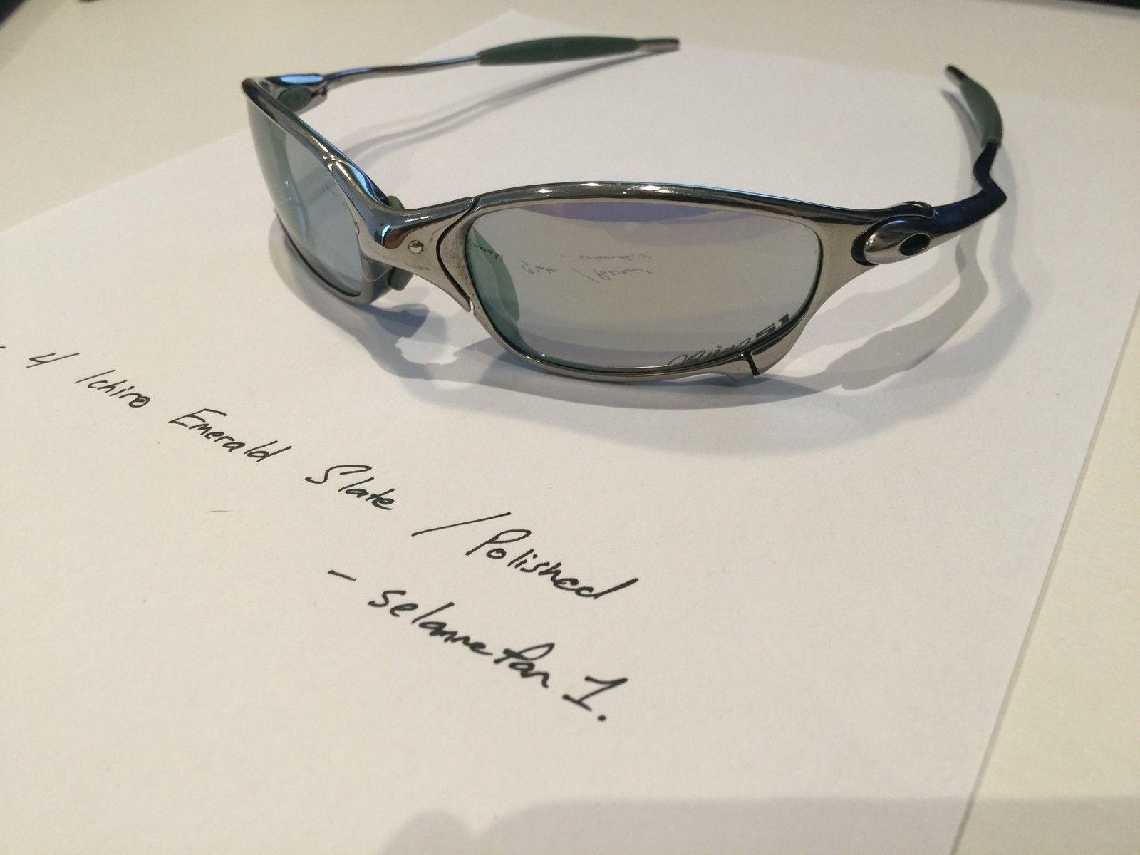 Ichiro Emerald Slate / Polished Frame Juliets (with box) - IMG_3816.JPG