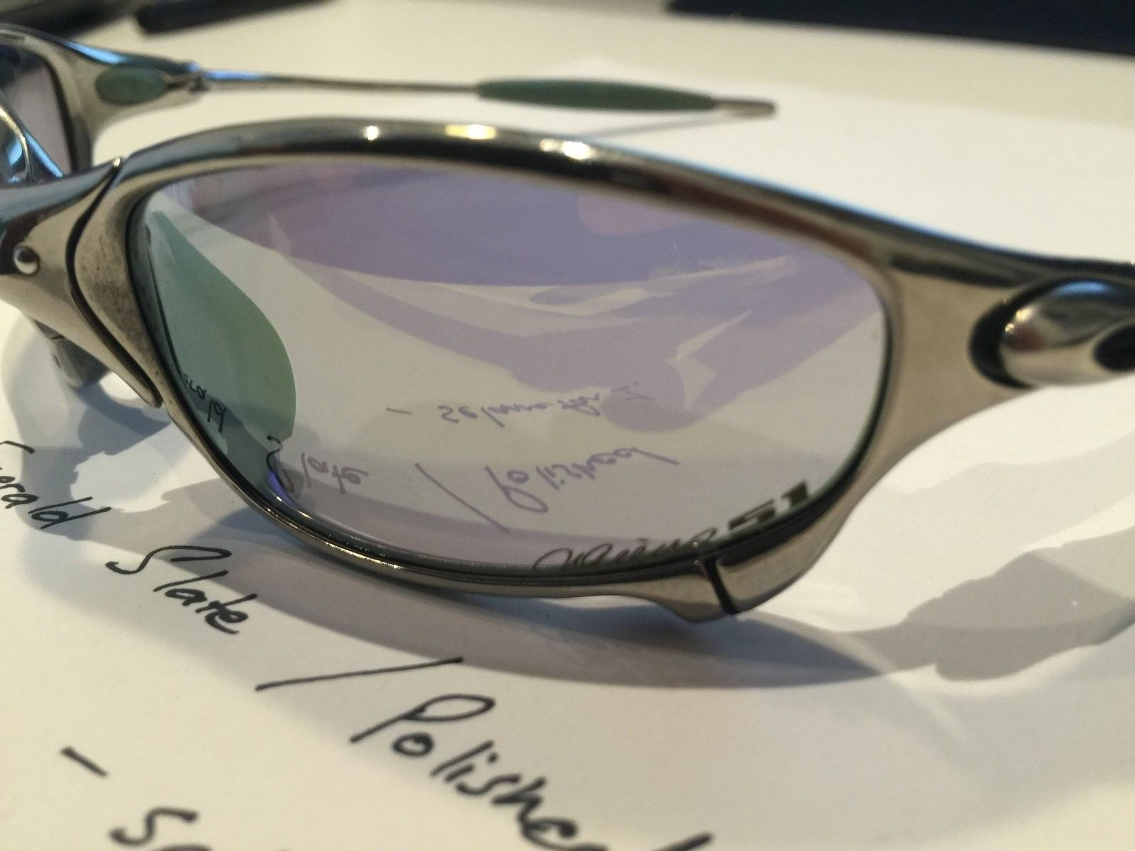 Ichiro Emerald Slate / Polished Frame Juliets (with box) - IMG_3818.JPG