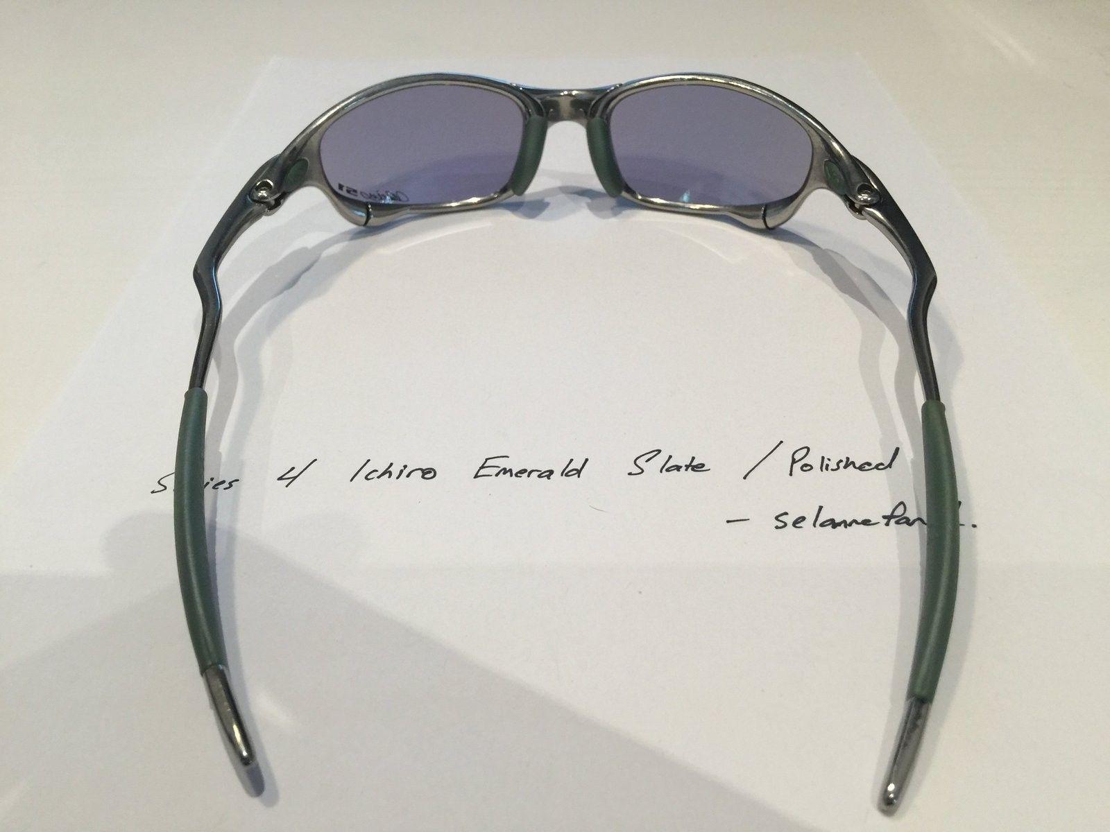 Ichiro Emerald Slate / Polished Frame Juliets (with box) - IMG_3819.JPG