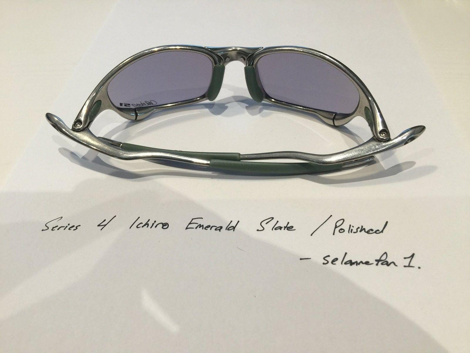 Ichiro Emerald Slate / Polished Frame Juliets (with box) - IMG_3820.JPG