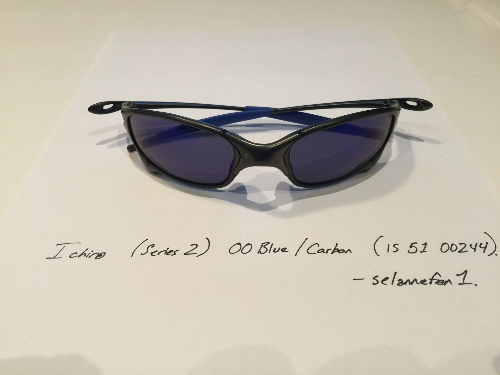 Ichiro OO Blue / Carbon Juliets (with Serial and Box) - IMG_3826.JPG