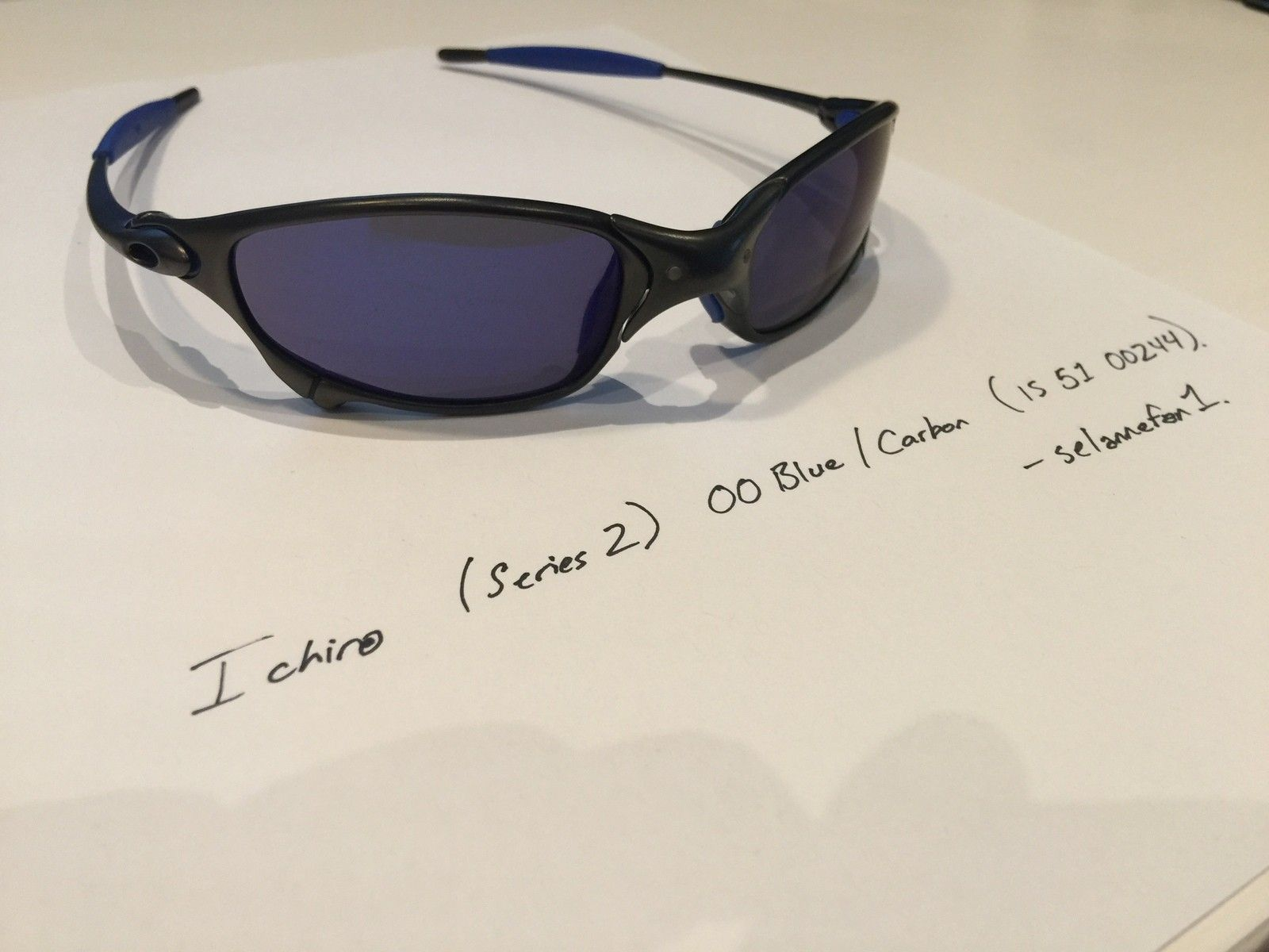 Ichiro OO Blue / Carbon Juliets (with Serial and Box) - IMG_3828.JPG