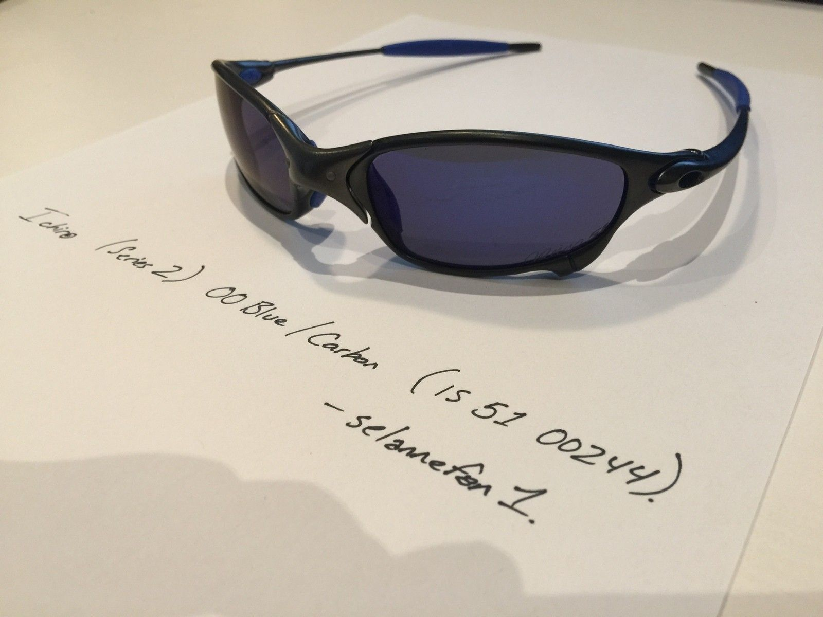 Ichiro OO Blue / Carbon Juliets (with Serial and Box) - IMG_3829.JPG