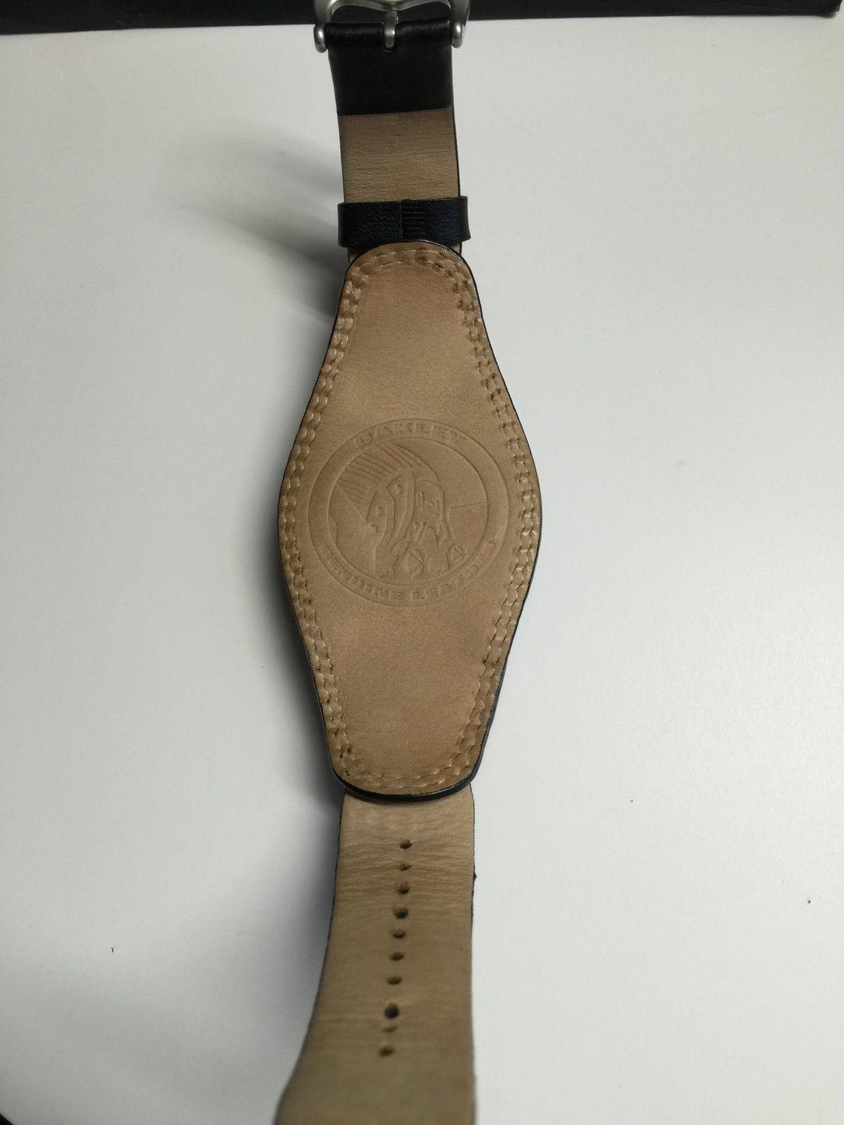 White dial with black leather strap Saddleback watch - IMG_4016.JPG