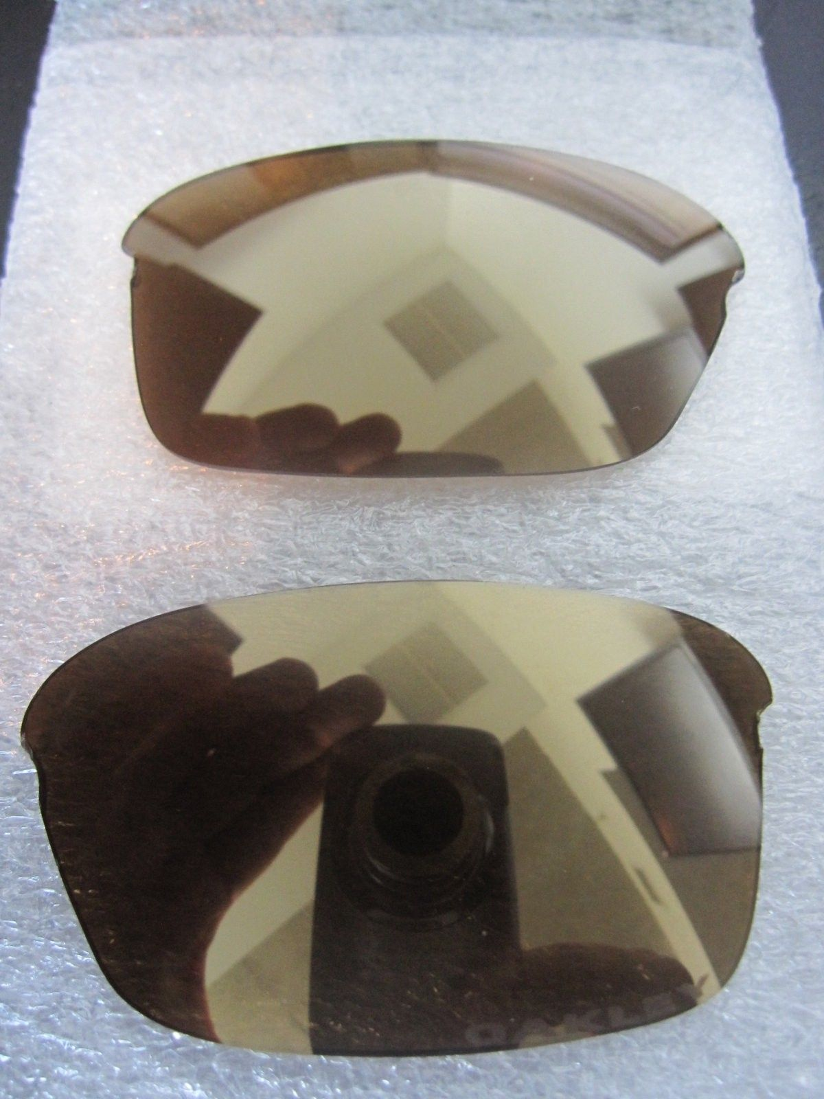 "New OEM Razrwire Gold iridium lenses - Etched ""OAKLEY"" - IMG_5047.JPG"