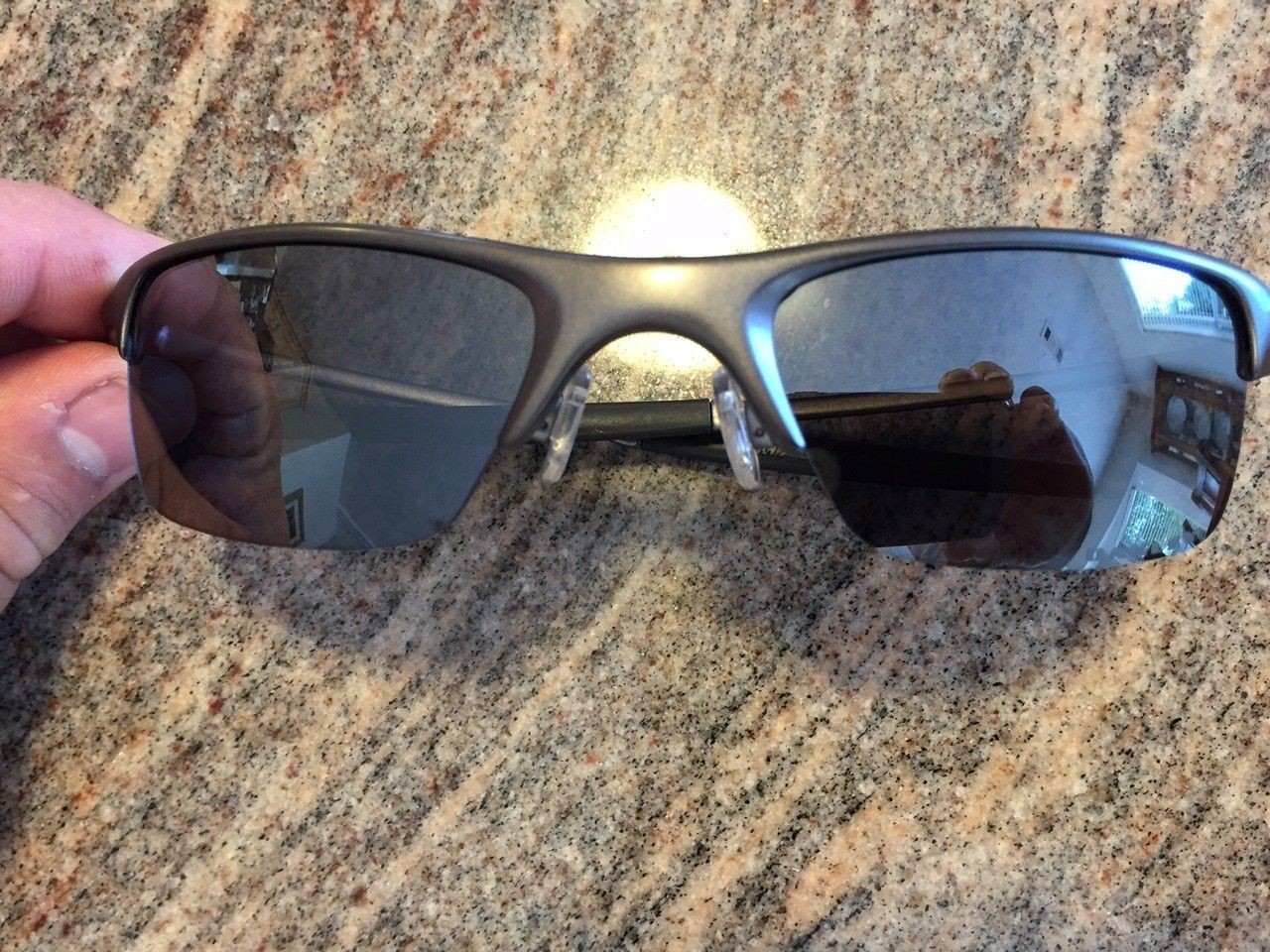 Oakley Razrwire Sunglasses. Pewter W/Black Iridium. - IMG_5873.JPG