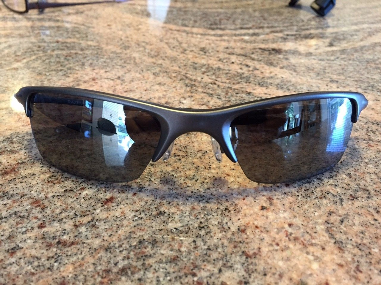 Oakley Razrwire Sunglasses. Pewter W/Black Iridium. - IMG_5880.JPG