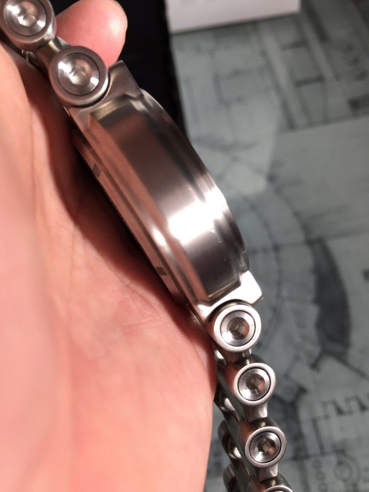 LNIB Black Dial Hollow Point watch - IMG_6068.JPG