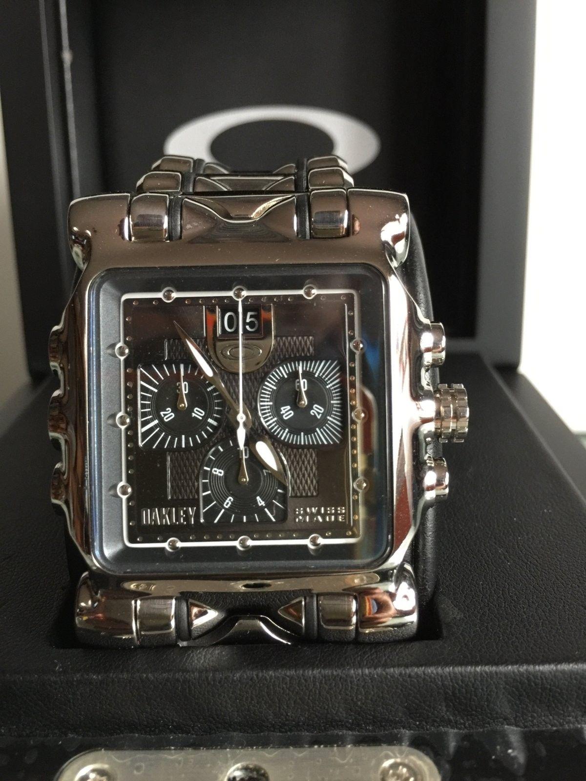 LNIB Polished Black Dial Minute Machine watch - IMG_6074.JPG