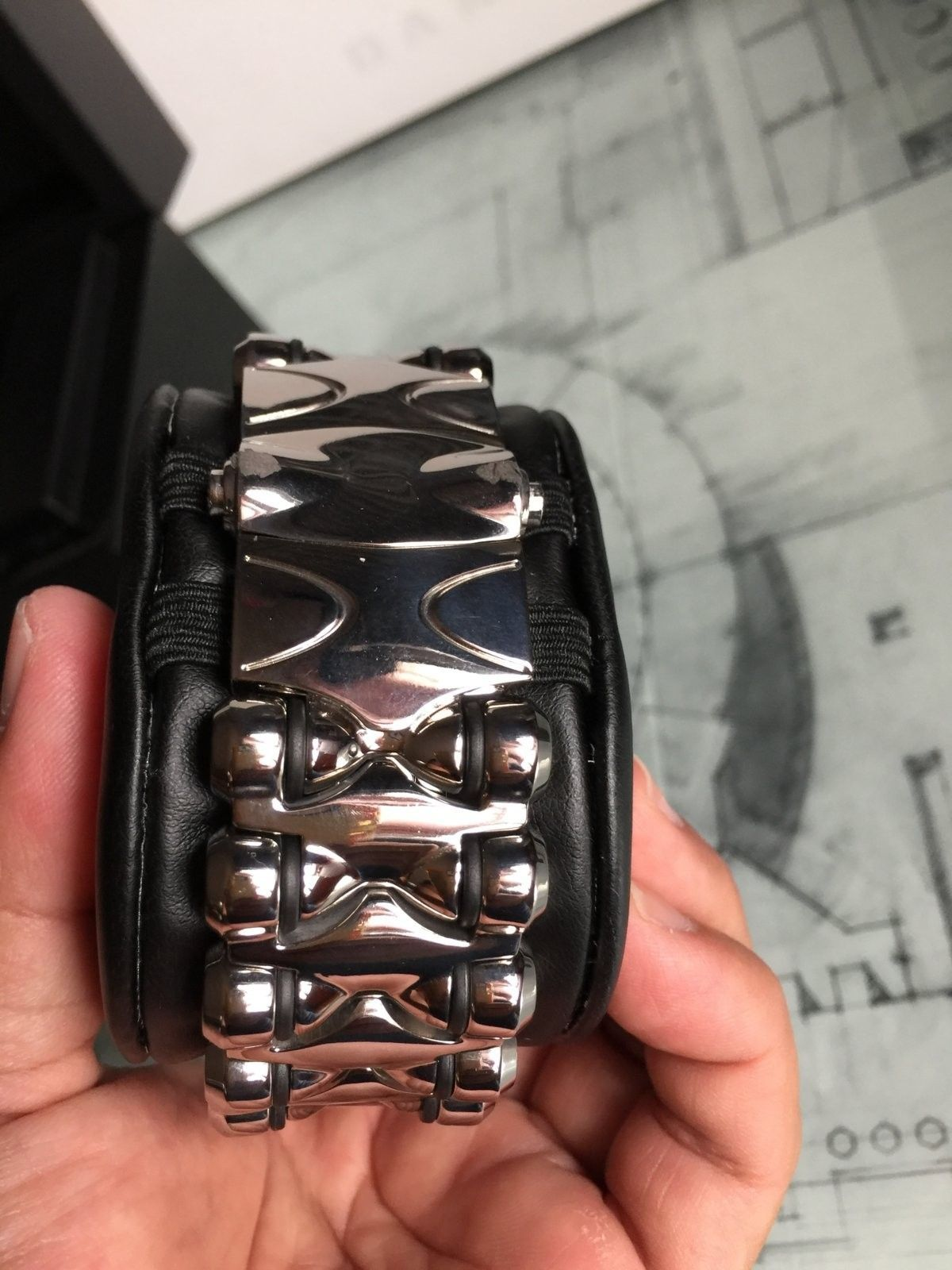 LNIB Polished Black Dial Minute Machine watch - IMG_6075.JPG