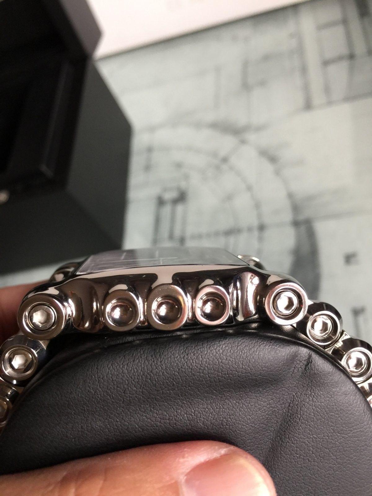 LNIB Polished Black Dial Minute Machine watch - IMG_6077.JPG