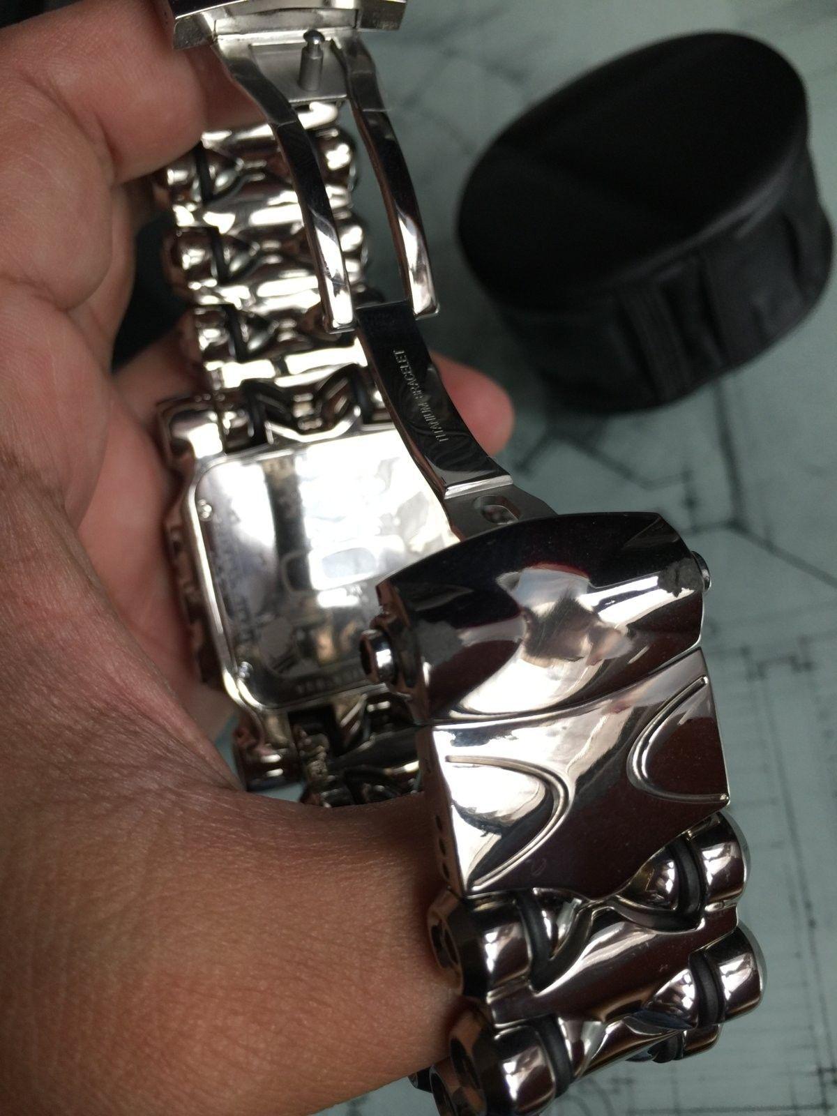 LNIB Polished Black Dial Minute Machine watch - IMG_6081.JPG