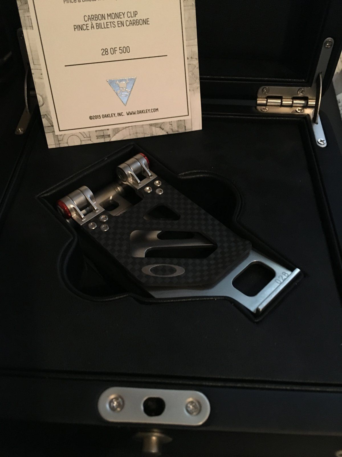 For Sale - Carbon Fiber Money Clip and Carabiner | Oakley ...