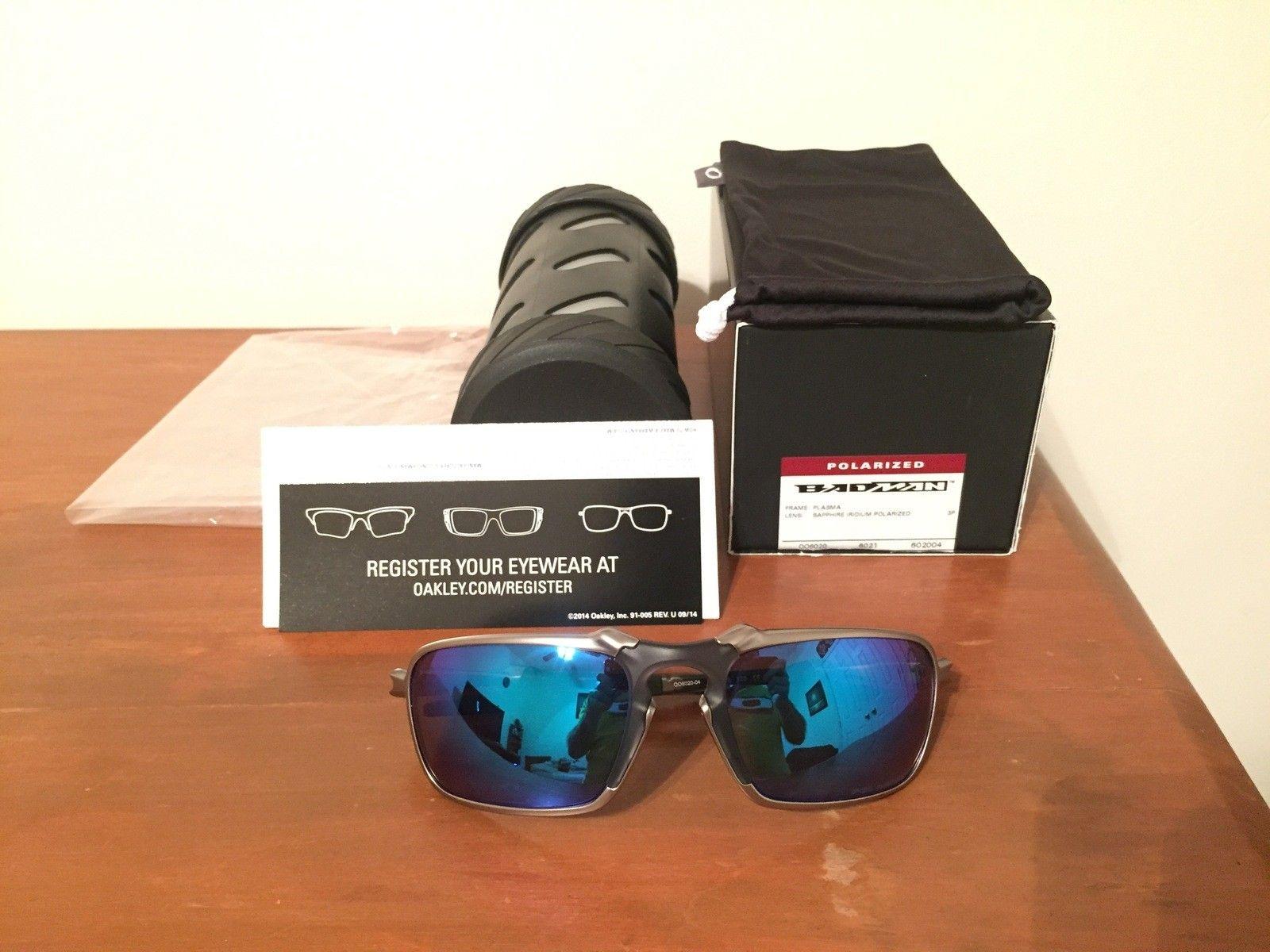 NEW Oakley Badman Sapphire Irid Polarized - IMG_6552.JPG