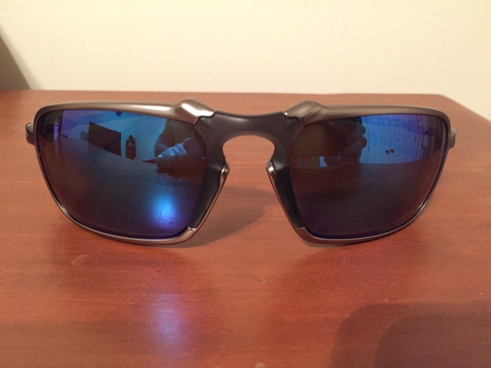 NEW Oakley Badman Sapphire Irid Polarized - IMG_6555.JPG